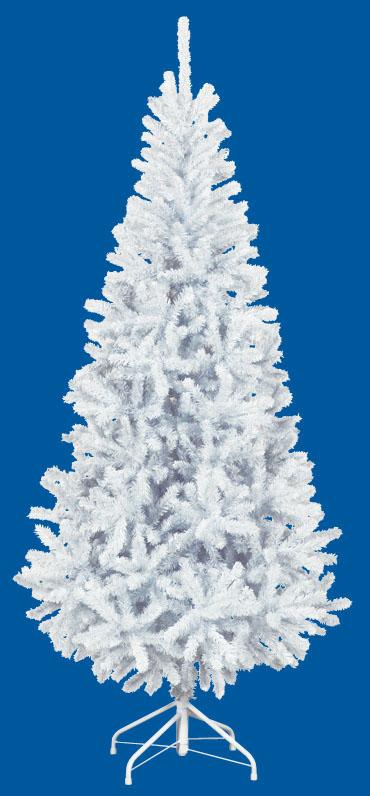 【クリスマス・ヌードツリー・装飾】210cmホワイトスリムツリー(枝が幹に巻きつけられており、手で直接広げるタイプ)