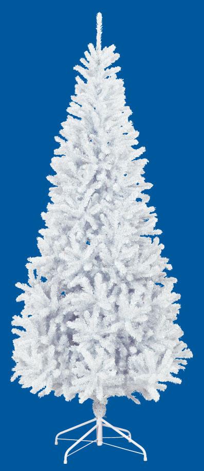 【クリスマス・ヌードツリー・装飾】240cmホワイトスリムツリー(枝が幹に巻きつけられており、手で直接広げるタイプ)