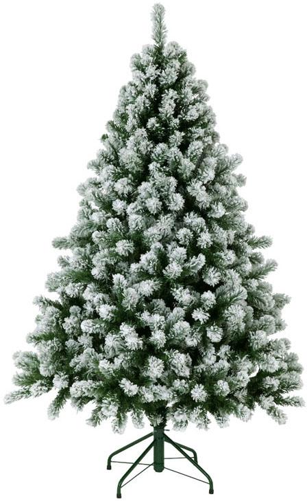 【クリスマス・ヌードツリー・装飾】180cmスノーパインツリー(フロック)(幹と枝が傘の様な部品で接続されておりパタパタ広げるタイプ)