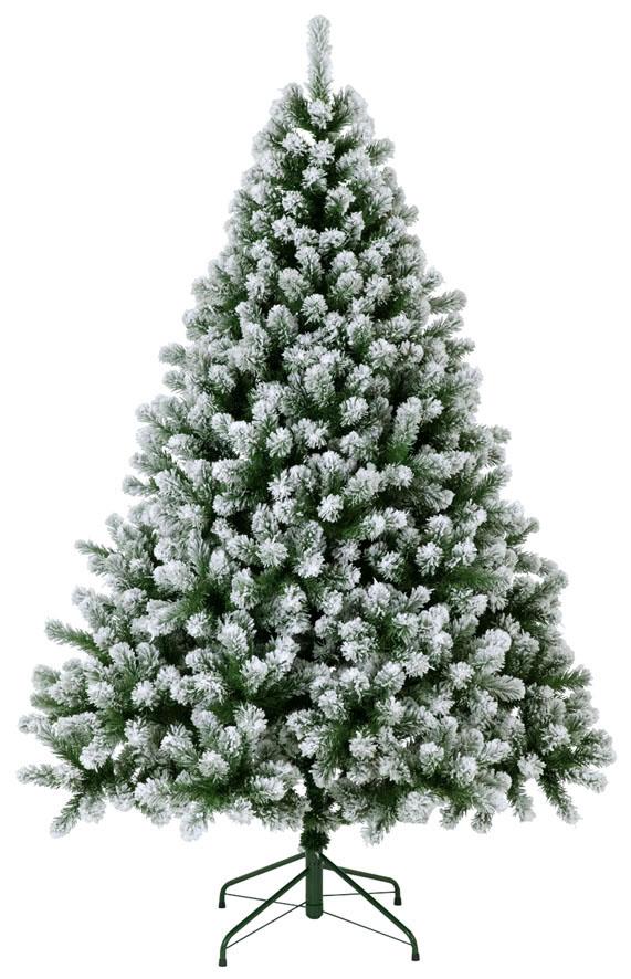 【クリスマス・ヌードツリー・装飾】210cmスノーパインツリー(フロック)(幹と枝が傘の様な部品で接続されておりパタパタ広げるタイプ)