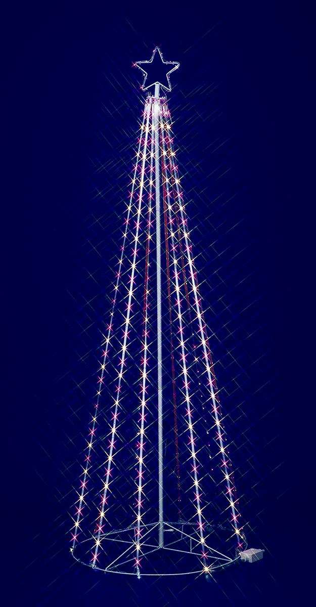 【イルミネーション】180cmピンクホワイトLEDテープライトタワー