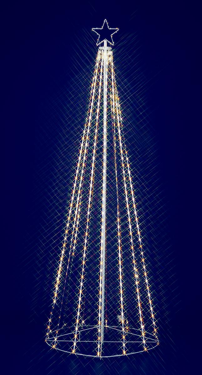 【イルミネーション】240cmゴールドホワイトLEDテープライトタワー