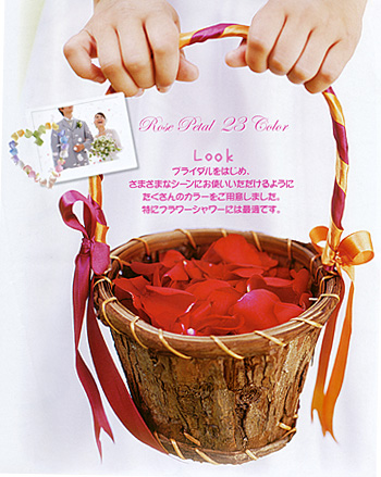 【造花・シルクフラワー】ローズペタル・ペールラベンダーグリーン(1パック約120枚入り)フラワーシャワー