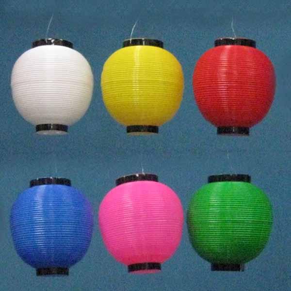 【お祭り・ポリ提灯】ポリエチレン製 尺丸提灯(ベタ)(丸型)100個セット