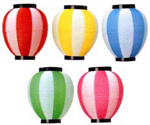 【お祭り・ポリ提灯】ポリエチレン製 八 寸提灯(染分)(長型)50個