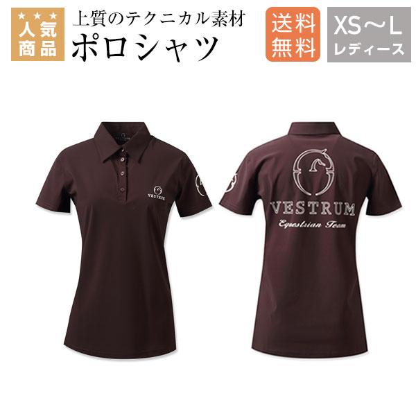 乗馬 ポロシャツ Tシャツ ティーシャツ 乗馬用ウエア 送料無料 VESTRUM ポルトロシュ ポロシャツ レディース 乗馬用品 馬具