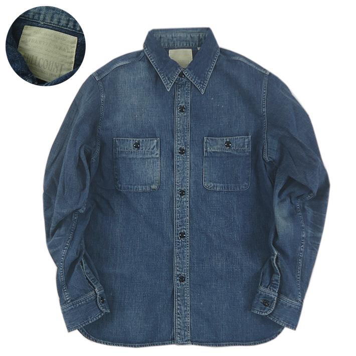 FULLCOUNT フルカウント デニムワークシャツ ハンドウォッシュ DENIM WORK SHIRTS 4890HW