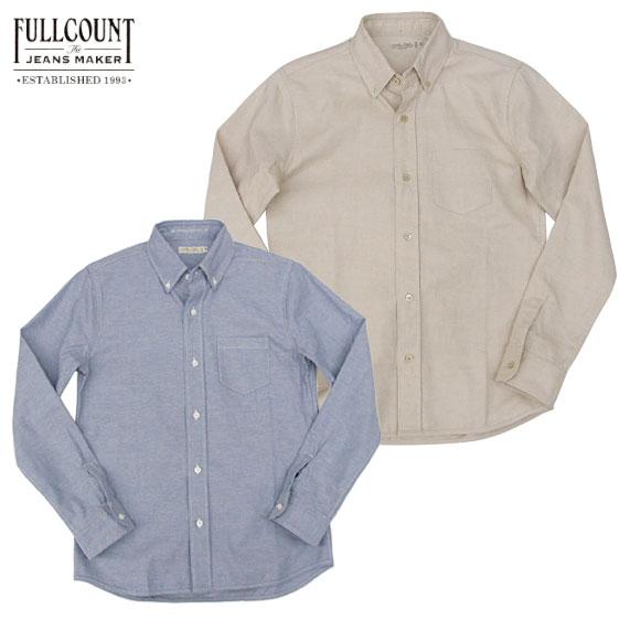 FULLCOUNT フルカウント 長袖 シャツ 4814 OXFORD B.D SHIRTS オックスフォード ボタンダウンシャツ FULL COUNT