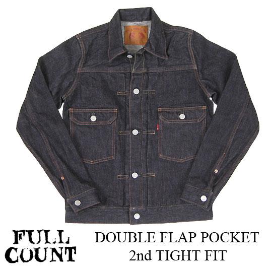 FULLCOUNT フルカウント 2nd モデル DOUBLE FLAP POCKETセカンド ダブルフラップ ポケット タイトフィット 2812