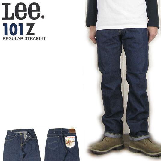 李 101Z 直水洗牛仔裤 Leary 达斯 LM5101 400 ' 男装底部。