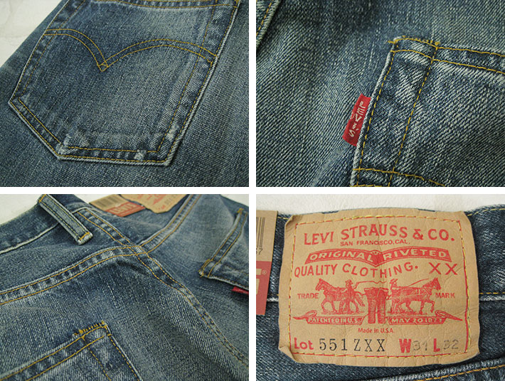 LEVI's VINTAGE CLOTHING 551ZXX 1962 model THE WOLF (the Wolf) Turkey-19621-0003 (men / bottoms / jeans / closure / paper patch and Red Selvage denim) (LVC reebaisvintage Reprint Edition)