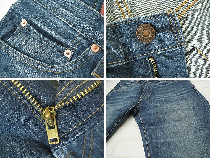 李维斯复古关闭 LVC 505 1967年模型花生鸭 (peanutsdack) 土耳其-67505-0088 (男性 / 底 / 牛仔裤 / 关闭 / 纸贴片和红边牛仔布) (LVC reebaisvintage 重印版)