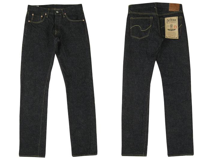 """恶魔牛仔布 ONI 牛仔布 517XXBE 16.5 盎司紧直""""男人/底部/牛仔/牛仔裤/紧/直/momotarō。"""
