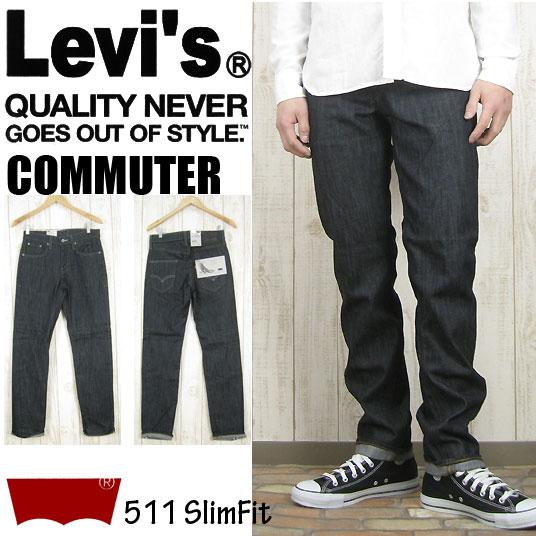 "Levi's COMMUTER/李维斯月票使用者511纤细合身19151-0001""男子的/底/纤细/李维斯/糖果舵/休闲/Levis"""