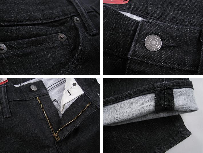 李维斯 Levis 511 修身黑色温暖牛仔裤 LV-04511-2068