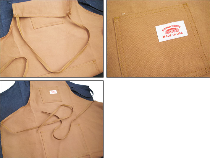 Roundhouse shop apron (apron/working / gardening/Cafe / food / casual/work)