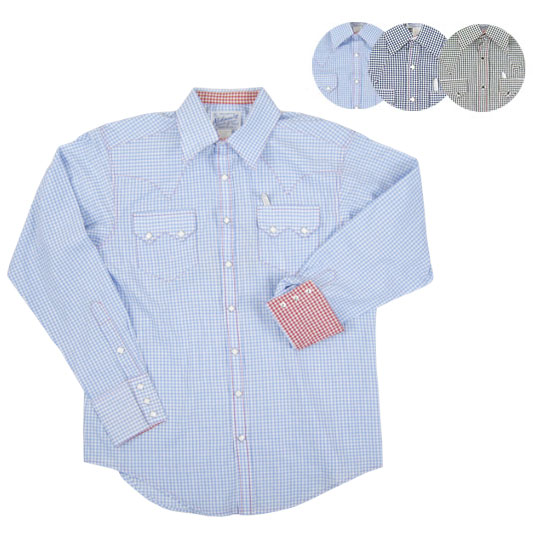 dd18482edad Rockmount lock mount gingham l s Western shirt 615-C (men   tops   long  sleeve   long sleeve shirt   check pattern and United States made)