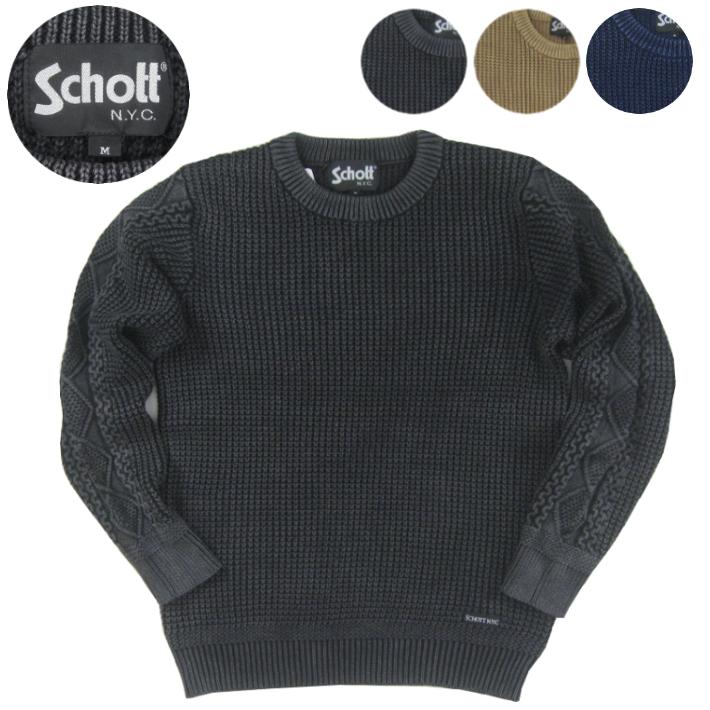 ショット Schott クルーネック セーター 3174011