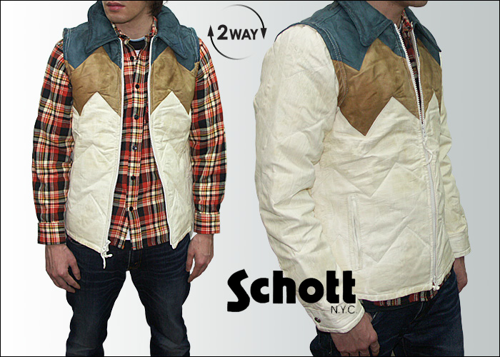 Shot Schott N.Y.C. Mountain down jacket (the 2WAY jacket → best) MOUNTAIN falling JKT 3161010