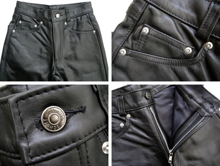 """肖特射皮革裤直 600""""底裤子皮革,男装。"""