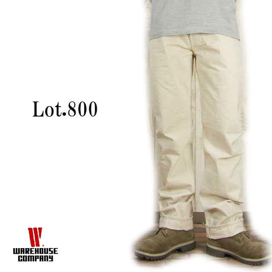 WAREHOUSE ウエアハウス ホワイトジーンズ Lot.800 キナリ