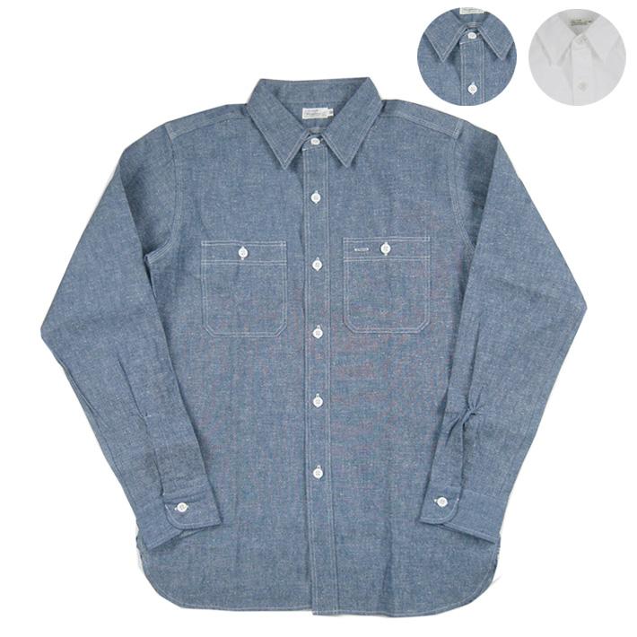 WAREHOUSE ウエアハウス Lot.3076 シャンブレー ワークシャツ TRIPLE STITCH WORK SHIRTS