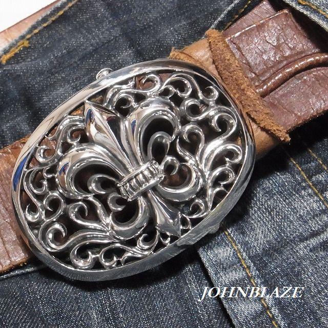 百合の紋章 リリークレスト フレア 王家 アラベスク 取り換え ベルト バックル シルバー925製 メンズ
