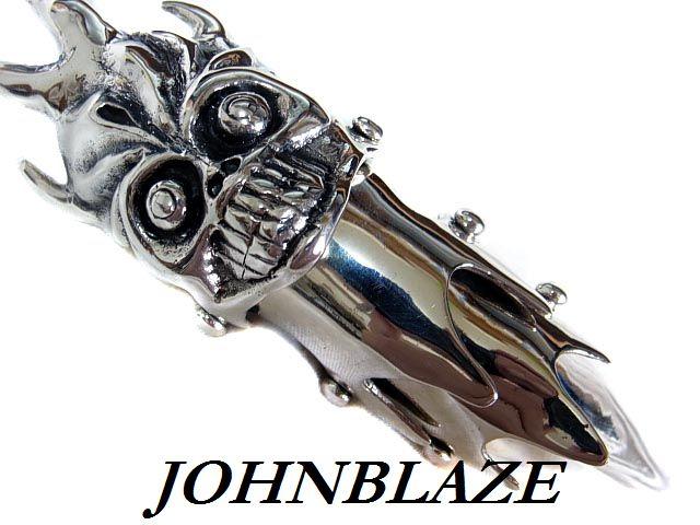 シルバー925製 アーマーリング DEMON デーモン 超ハード系 ロングネイルタイプ 3連式 甲冑 鎧 甲殻 シルバーアクセ メンズ レディース 男女兼用 人気 おしゃれ ギフト プレゼント お返し 記念日 誕生日 パーティー ストリート カジュアル ハード系 銀 純銀 スターリング