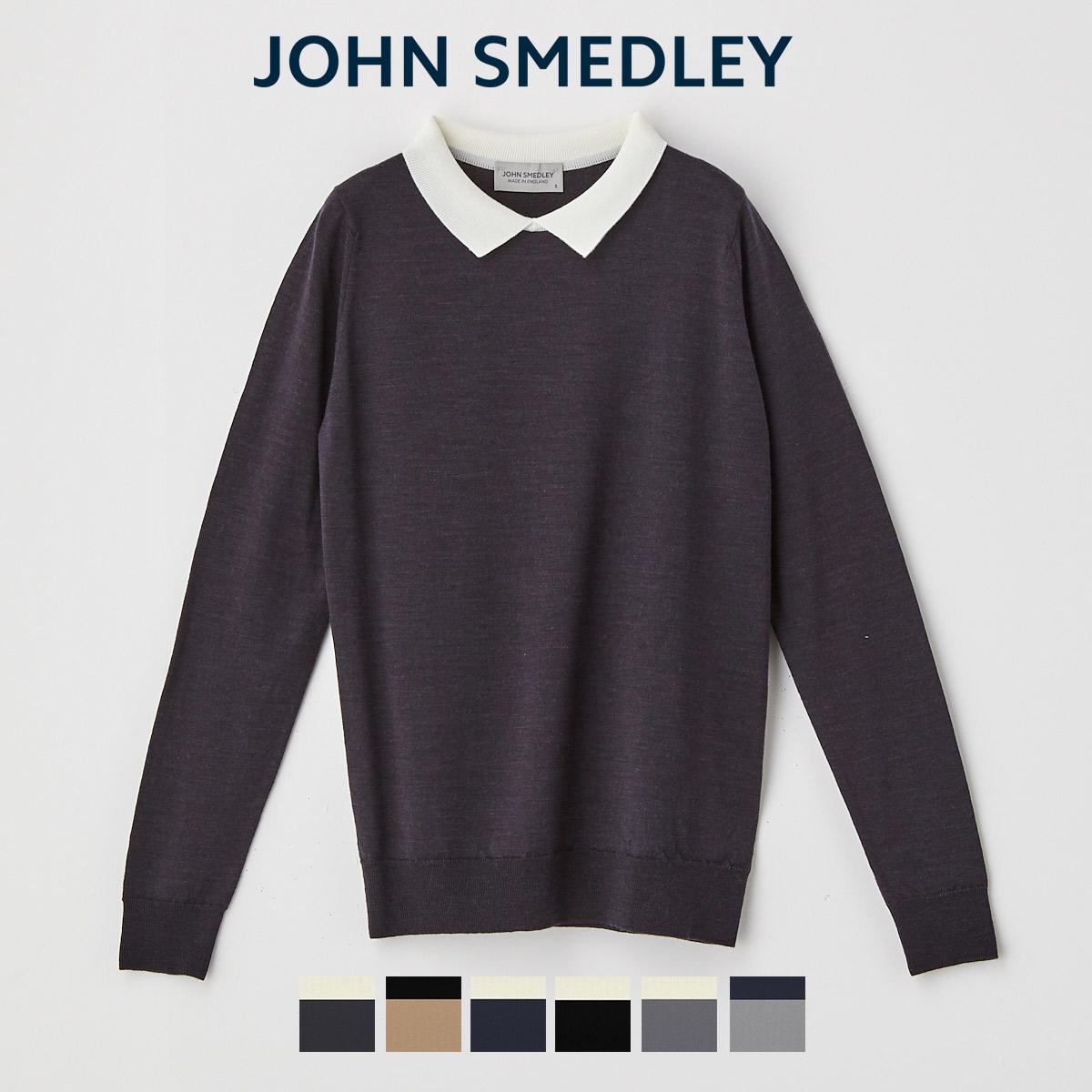 ジョンスメドレー JOHN SMEDLEY ニット ポロシャツ 日本限定アイテム ポイント5倍 激安 激安特価 送料無料 9 休日 4 レディース 2021AW 11 20:00~9 公式 1:59 長袖ニットポロシャツ A4448