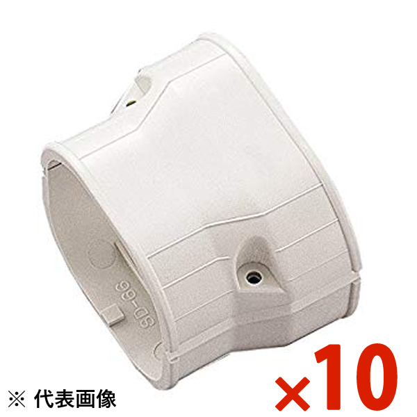 【送料無料】INABA・因幡電工 スリムダクト SD 異径ジョイント 10個セット アイボリー SDR-140-100-I