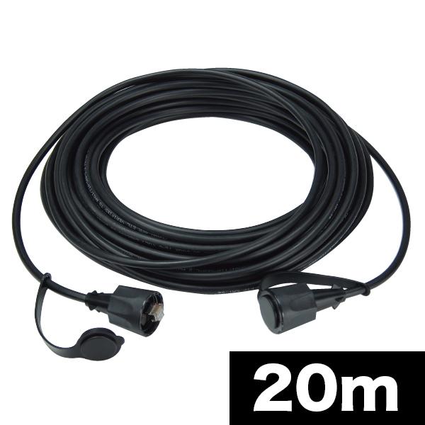 【送料無料】Jefcom・ジェフコム/DENSAN・デンサン 屋外用LANコネクタ付ケーブル LCAT5E-20WP