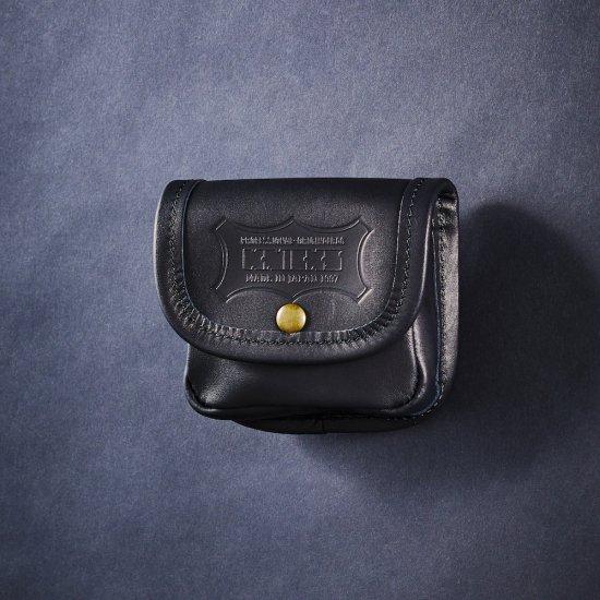 KNICKS・ニックス ヌメ革小物ポーチ ブラック KBS-100BOX