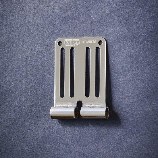 【送料無料】KNICKS・ニックス 連結チタニウム1.5mmベルトループ 総磨きタイプ TIT-15