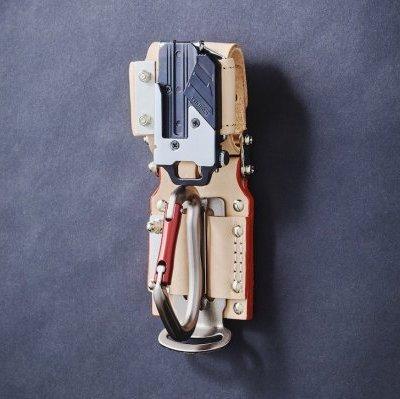 【送料無料】KNICKS・ニックス チェーンタイプ金属セフ/カラビナホルダーセット 茶色 KN-3SE