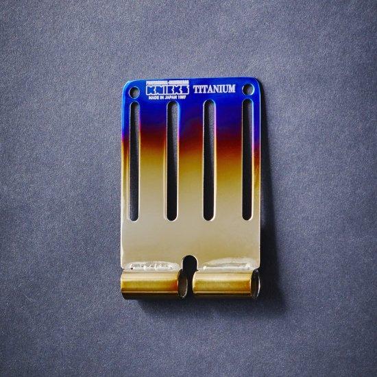 【送料無料】KNICKS・ニックス 連結チタニウム1.5mmベルトループ 焼付タイプ Lサイズ TIT15-LY