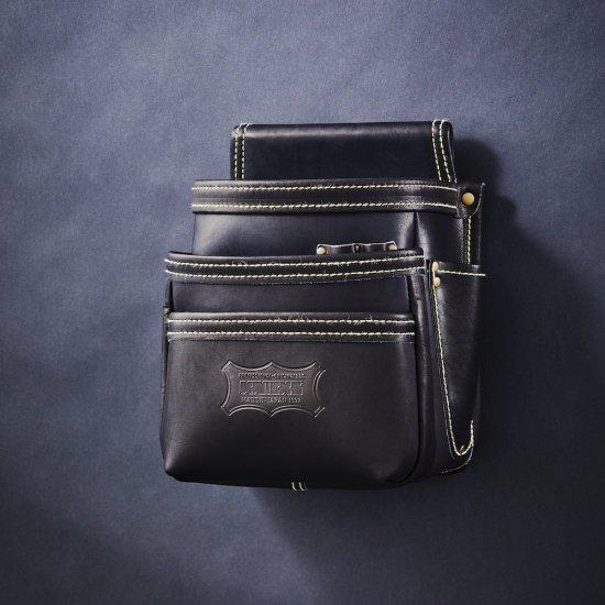 【送料無料】【代金引換不可】【後払い不可】KNICKS・ニックス 最高級硬式グローブ革3段腰袋 ブラック KGB-301DD