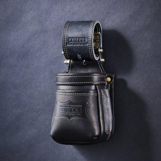 【メーカー欠品 納期未定】KNICKS・ニックス 最高級硬式グローブ革チェーンタイプ小物腰袋 ブラック KGB-201VADX