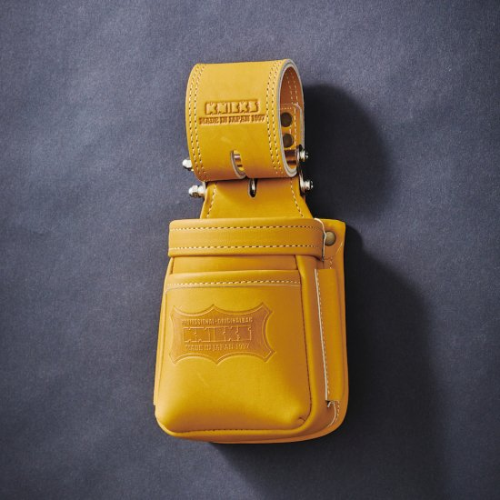 【メーカー欠品 納期未定】KNICKS・ニックス 最高級硬式グローブ革チェーンタイプ小物腰袋 キャメル KGC-201VADX