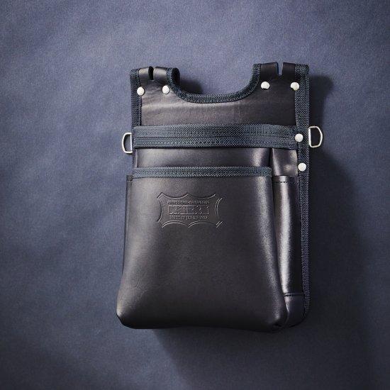 【送料無料】【代金引換不可】【後払い不可】KNICKS・ニックス グローブ革建築用2段腰袋 バリスティック縁巻 KGB-201BA