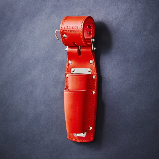 【送料無料】【代金引換不可】【後払い不可】KNICKS・ニックス チェーン式ペンチホルダー 8・9インチ対応 2段 SUSプレート付 レッド KR-201PLLSDX