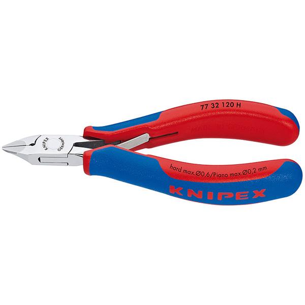 【送料無料】KNIPEX・クニペックス 超硬刃エレクトロニクスニッパー 7732-120H