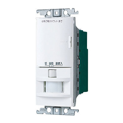 【在庫限り】Panasonic/パナソニック 住宅向 壁取付熱線センサ付自動スイッチ 親器 WTK1751W