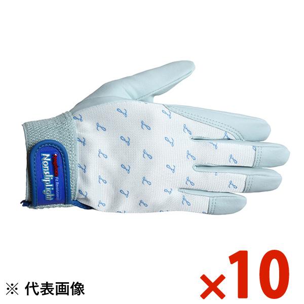 【まとめ特価】ペンギンエース ノンスリップライト手袋 PA-8153 ライトグレー L 10双セット