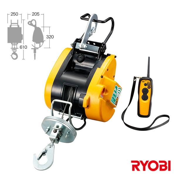 【送料無料】RYOBI・リョービリモコンウインチ 60kgWI-62RC【3907929】