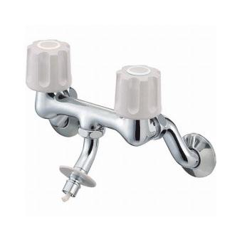 【送料無料】三栄水栓製作所/SANEIツーバルブ洗濯機用混合栓K1101TVK-LH