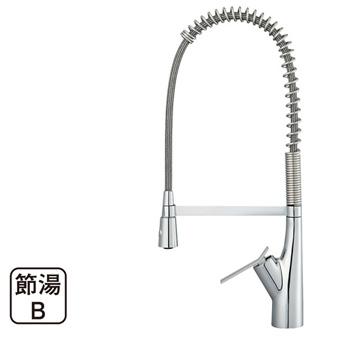 【送料無料】三栄水栓製作所/SANEIシングルワンホールスプレー混合栓K8731JV