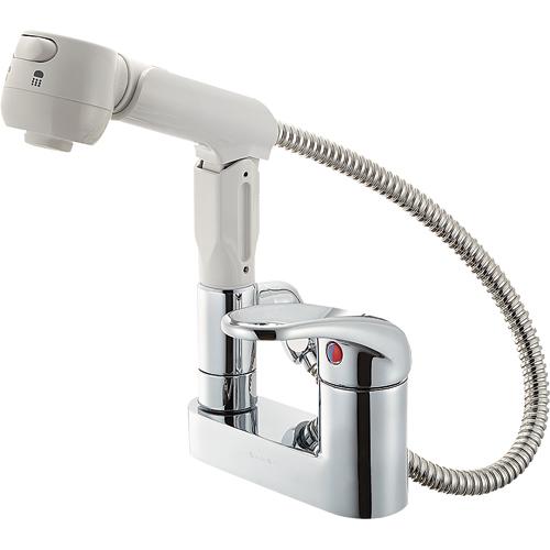 【送料無料】SANEI・三栄水栓製作所 シングルスプレー混合栓 K37100K-13