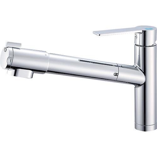 【送料無料】SANEI・三栄水栓製作所 シングル浄水器付ワンホールスプレー混合栓 K87580E1JK-13