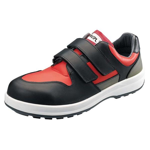 シモン 安全靴 マジック式短靴 8518赤/黒 26.0cm1705100