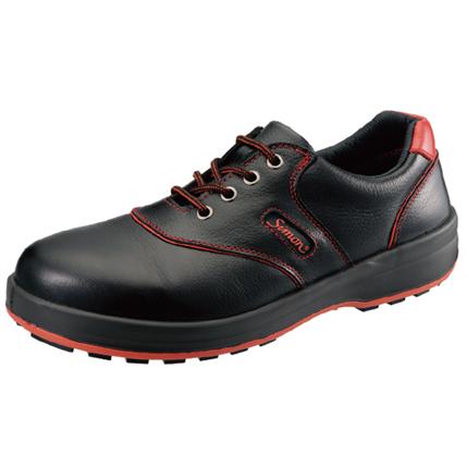【送料無料】SIMON・シモン 安全靴 短靴 SL11-R黒/赤 25.5cm 1700210
